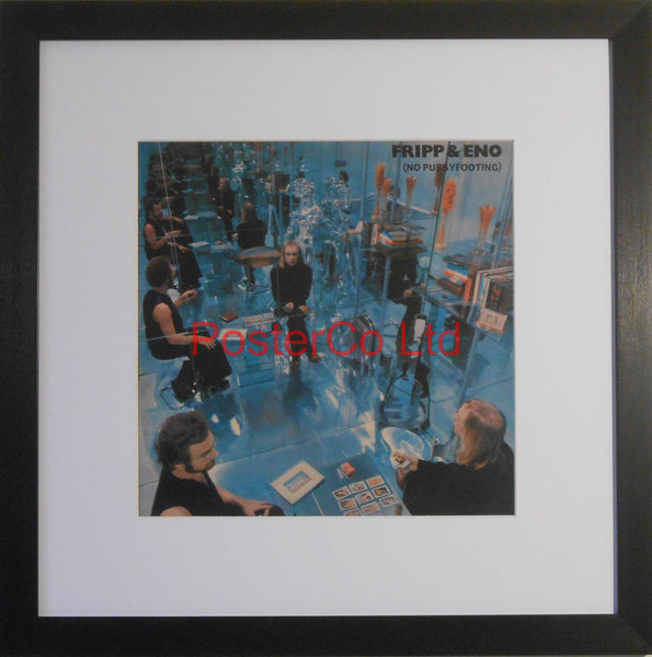 "Fripp and Eno - No Pussyfooting (Album Cover Art) - Framed Print - 16""H x 16""W"