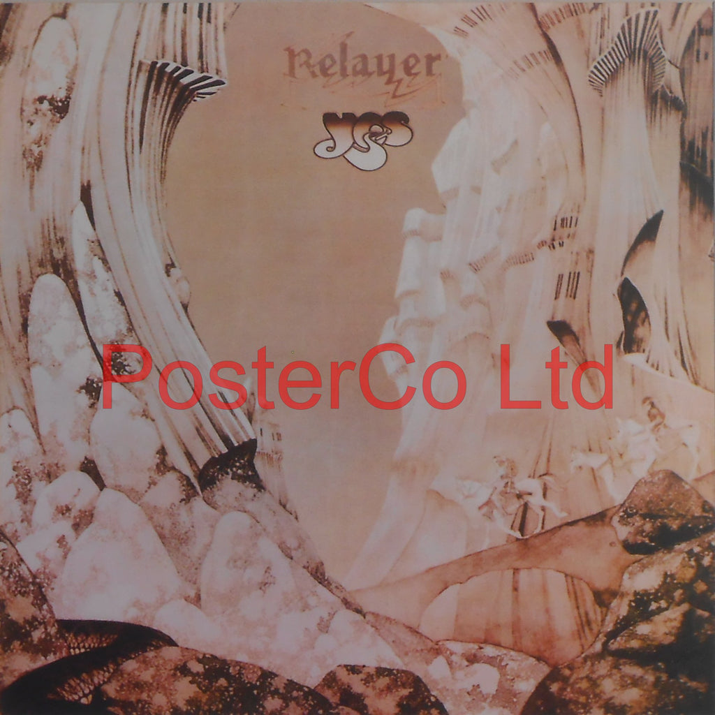 "Yes - Relayer (Album Cover Art) - Framed Picture - 16""H x 16""W"