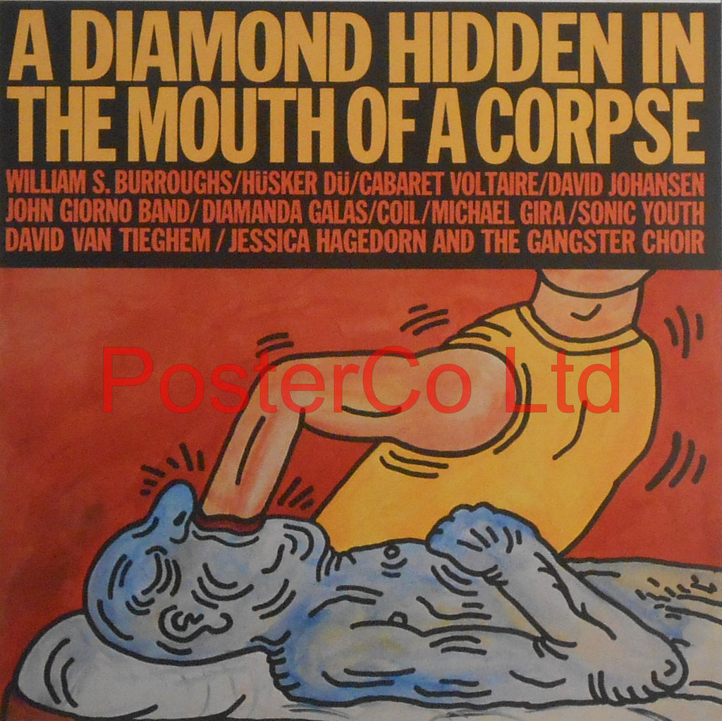 "A Diamond Hidden In The Mouth Of A Corpse (Album Cover Art) - Framed Picture - 16""H x 16""W"
