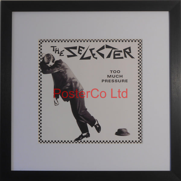 "The Selecter - Too Much Pressure (Album Cover Art) - Framed Print - 16""H x 16""W"