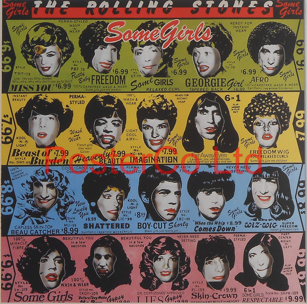 "The Rolling Stones - Some Girls (Album Cover Art) - Framed Print - 16""H x 16""W"