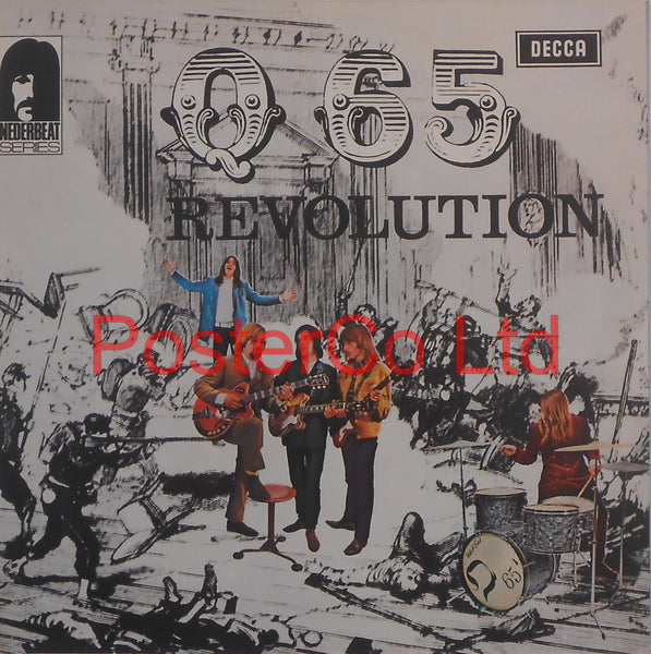 "Q65 - Revolution (Album Cover Art) - Framed Print - 16""H x 16""W"