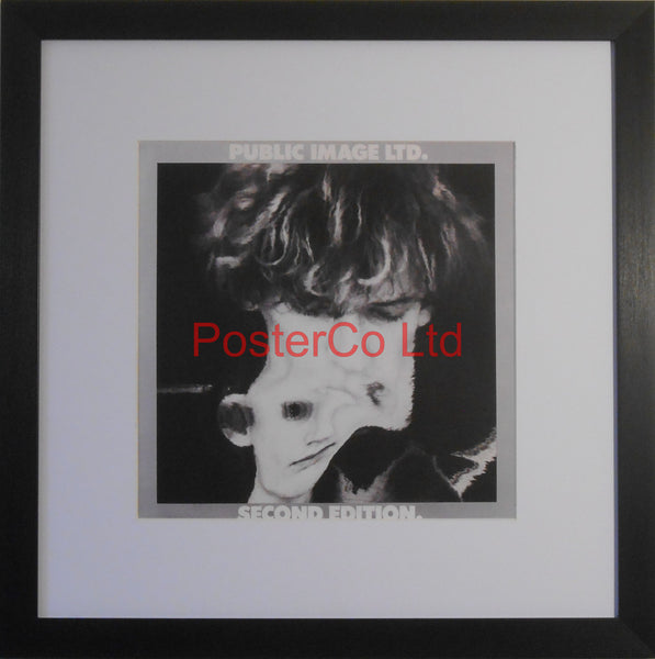 "Public Image Ltd - Second Edition (Album Cover Art) - Framed Print - 16""H x 16""W"