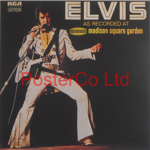 "Elvis Presley - Elvis as Recorded At Madison Square Garden (Album Cover Art) - Framed Print - 16""H x 16""W"