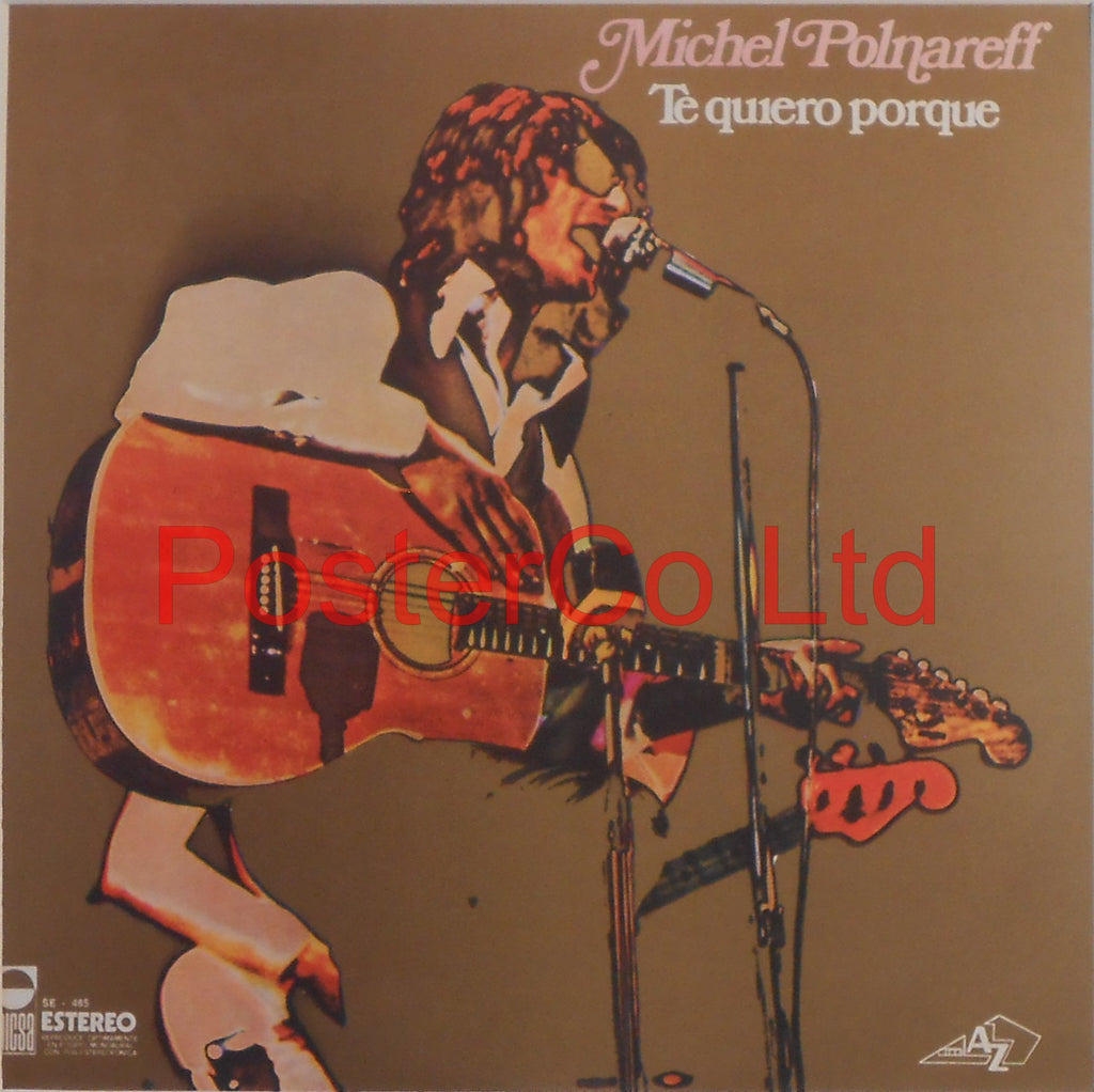 "Michel Polnareff - Te quiero porque (Album Cover Art) - Framed Print - 16""H x 16""W"