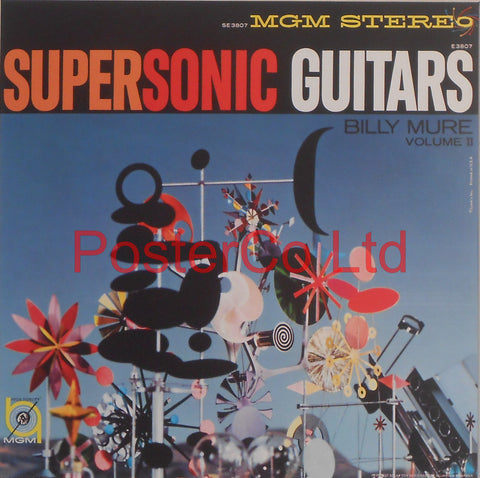 "Billy Mure - Supersonic Guitars (Album Cover Art) - Framed Print - 16""H x 16""W"