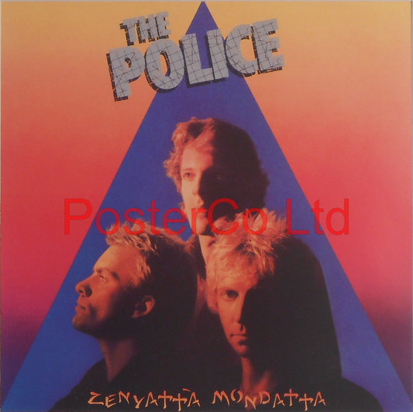 "The Police - Zenyatta Mondatta (Album Cover Art) - Framed Print - 16""H x 16""W"
