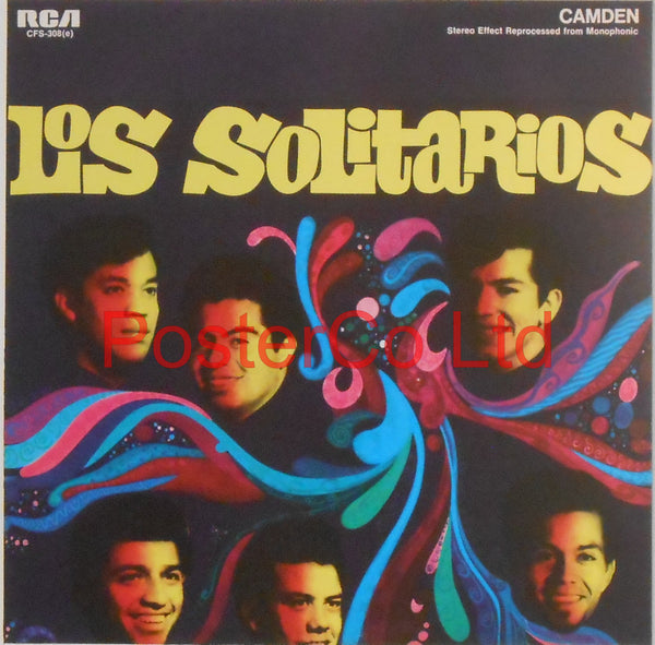 "Los Solitarios - Los Solitarios (Album Cover Art) - Framed Print - 16""H x 16""W"