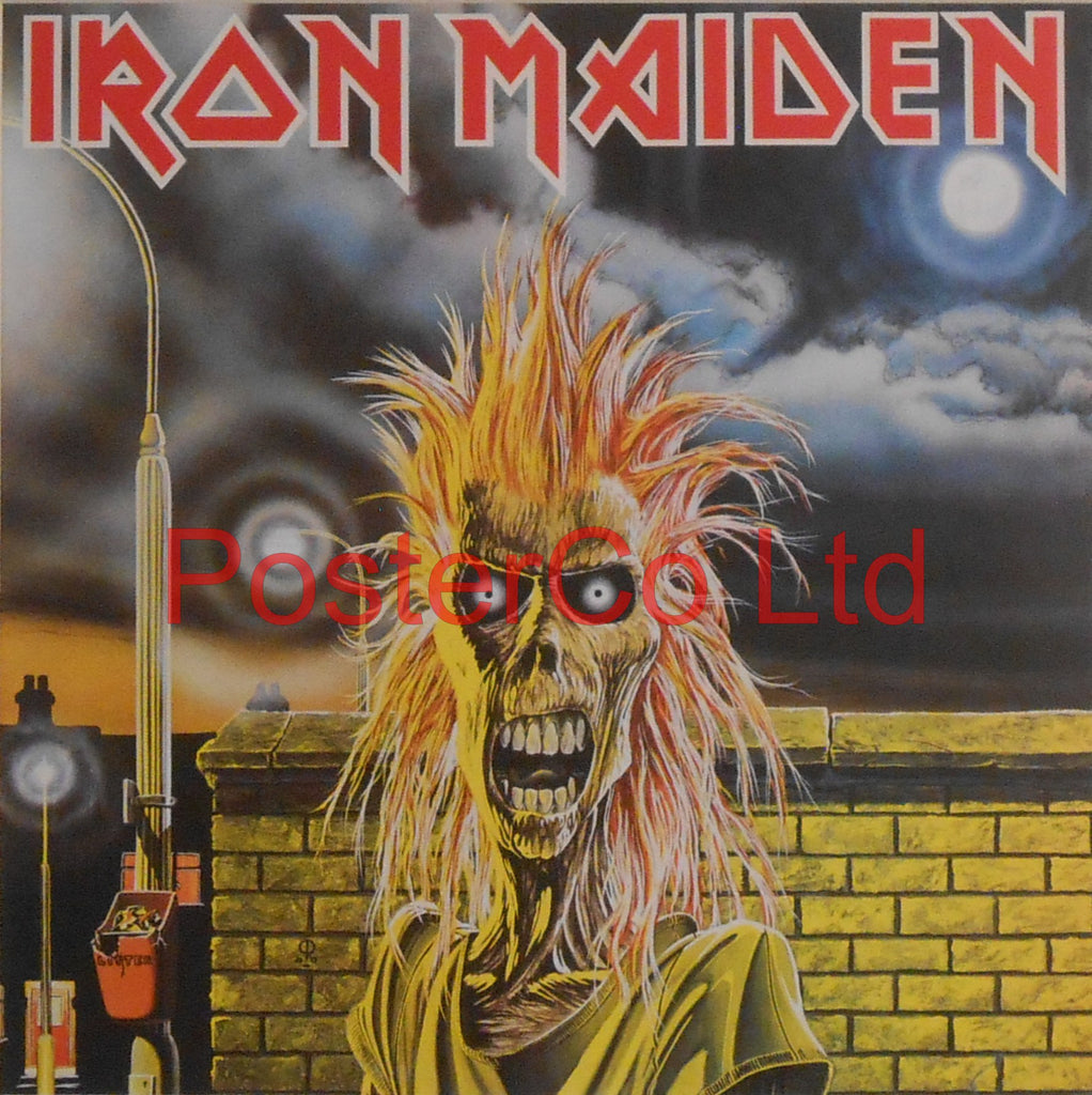 "Iron Maiden - Iron Maiden (Album Cover Art) - Framed Print - 16""H x 16""W"