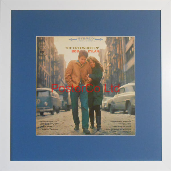 "Bob Dylan - The Freewheelin' Bob Dylan (Album Cover Art) - Framed Print - 16""H x 16""W"