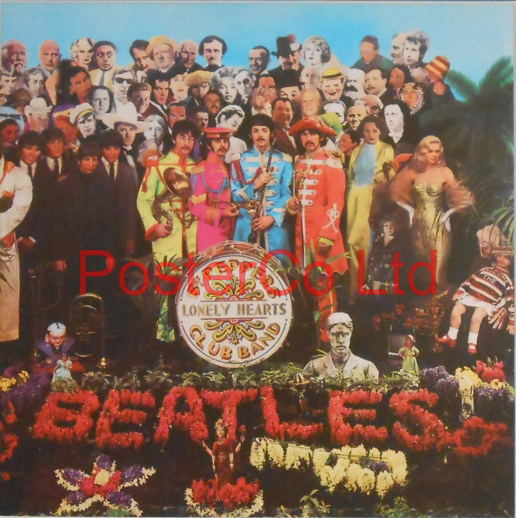 "The Beatles - Sgt Peppers Lonely Hearts Club Band (Album Cover Art) - Framed Picture - 16""H x 16""W"