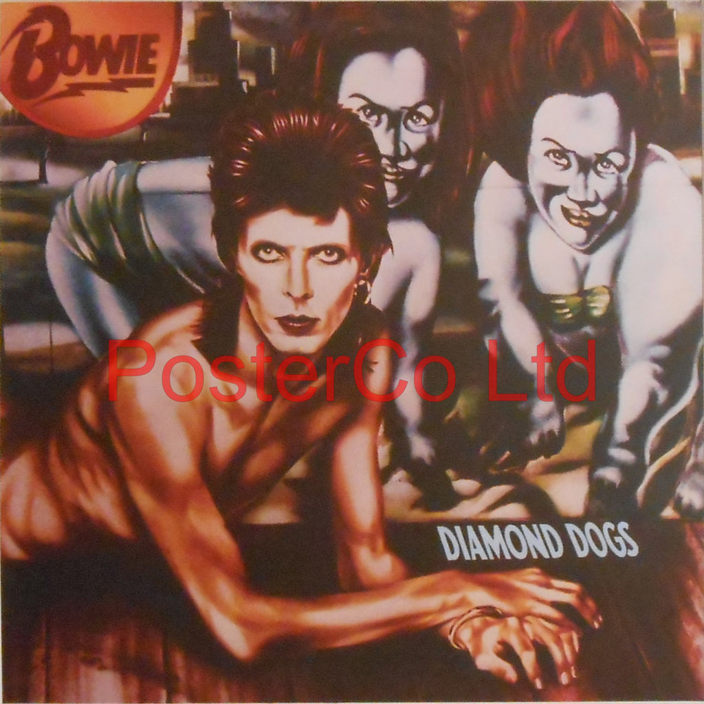 "Bowie - Diamond Dogs (Album Cover Art) - Framed Picture- 16""H x 16""W"