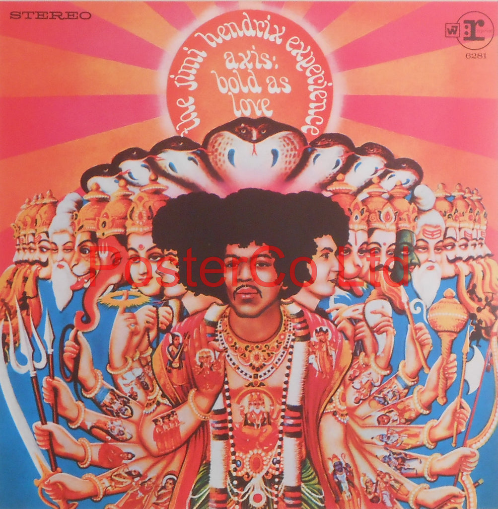 "The Jimi Hendrix Experience - Axis: bold as love (Album Cover Art) - Framed Print - 16""H x 16""W"