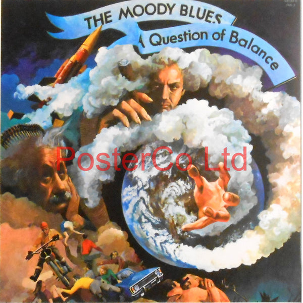 "The Moody Blues - A Question Of Balance (Album Cover Art) - Framed Print - 16""H x 16""W"