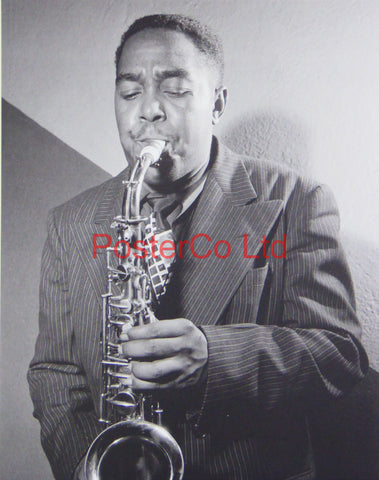 Charlie Parker - Playing a Saxophone