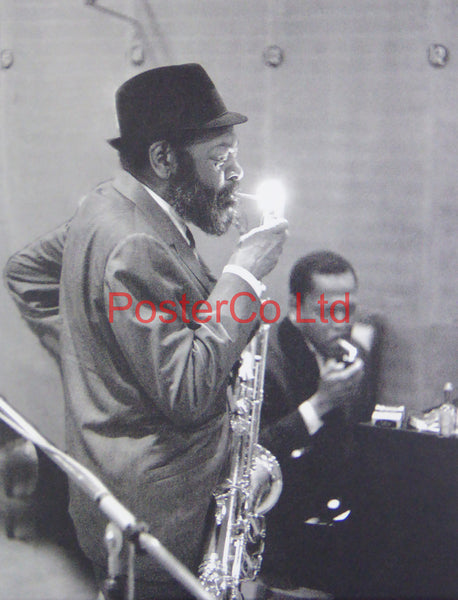 "Unknown Jazz Musician - Rehearsal at New York Studios - Framed Picture - 16""H x 12""W"