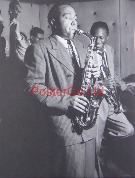 Charlie Parker - Playing a Saxophone with Miles Davis