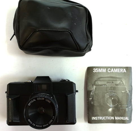 Unknown: 35mm with bag and Instructions Camera