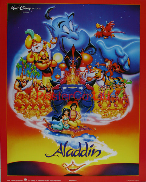 "Disney's Aladdin - Walt Disney Co - Framed Print - 20""H x 16""W"