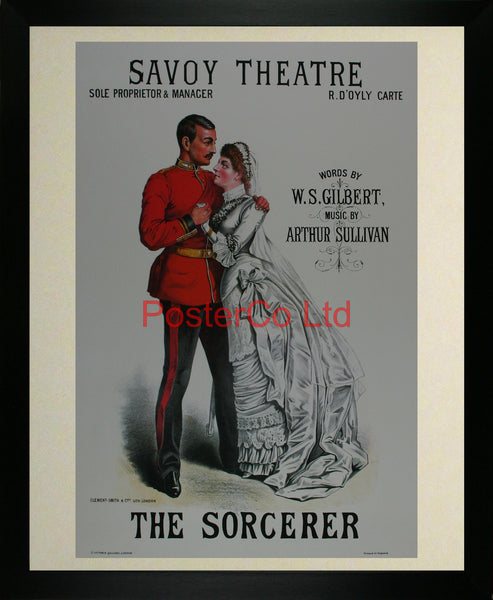"The Sorceror  - Savoy Advert - Framed Print - 20""H x 16""W"
