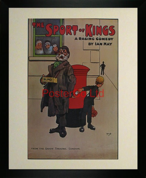 "Sport of Kings - Savoy Advert - Framed Print - 20""H x 16""W"