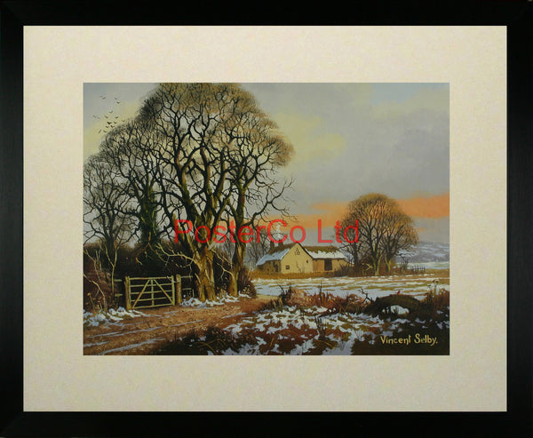 "Suffolk Barn - Vincent Selby - Framed Print - 16""H x 20""W"