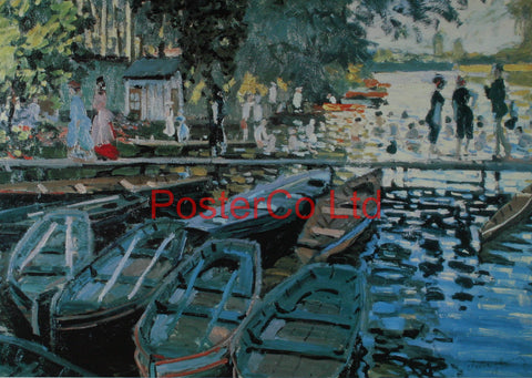 "Bathers at La Grenouillere - Oscar-Claude Monet - Framed Print - 16""H x 20""W"