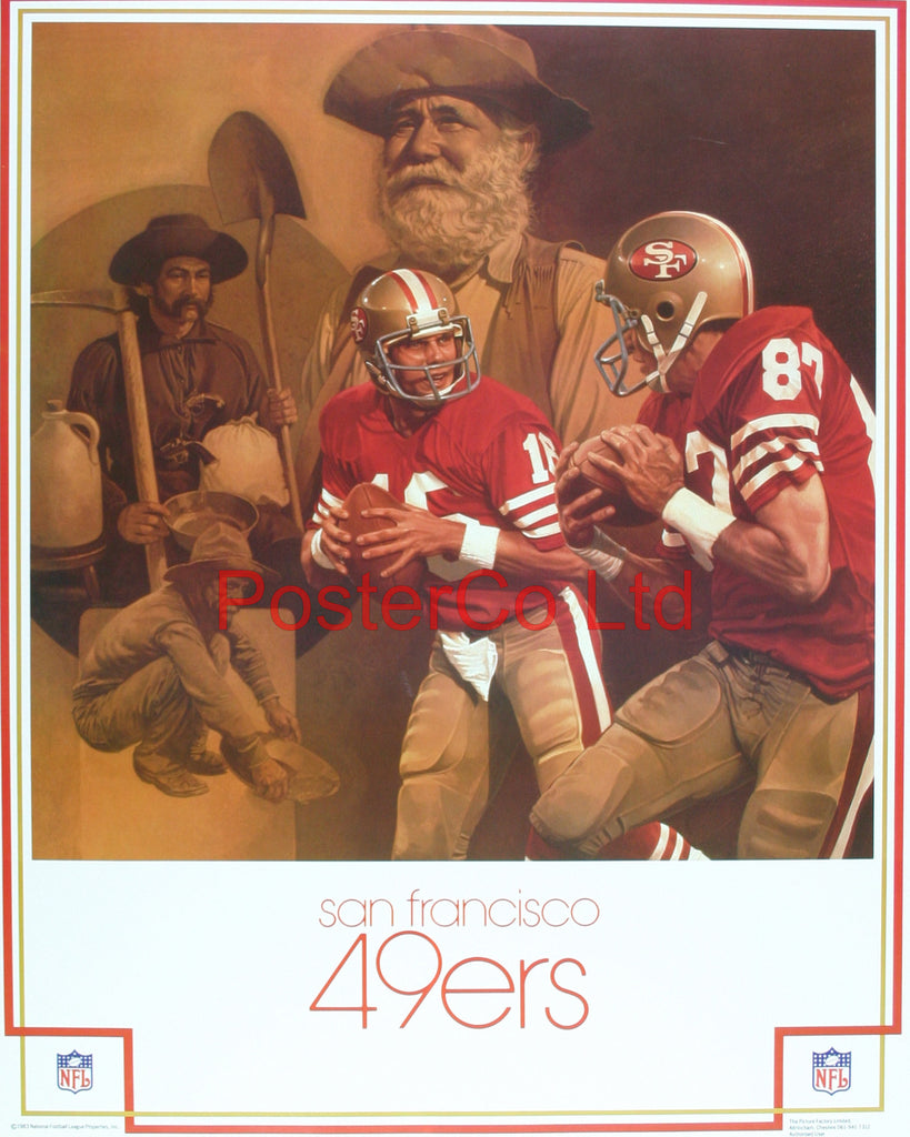 "San Francisco 49'ers NFL (American Football)- Framed Offical NFL Print - 20""H x 16""W"