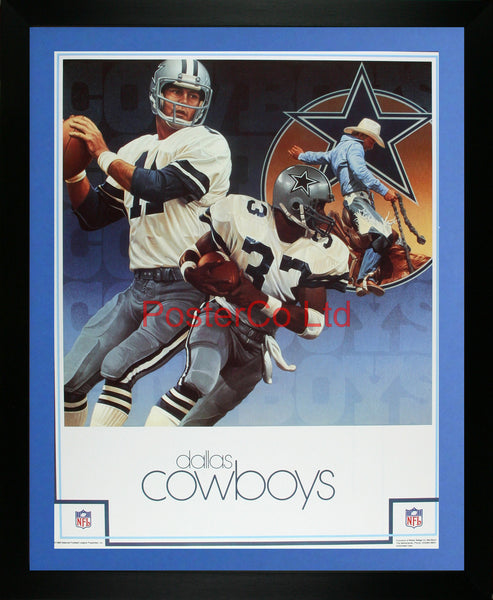 "Dallas Cowboys NFL (American Football)- Framed Offical NFL Print - 20""H x 16""W"