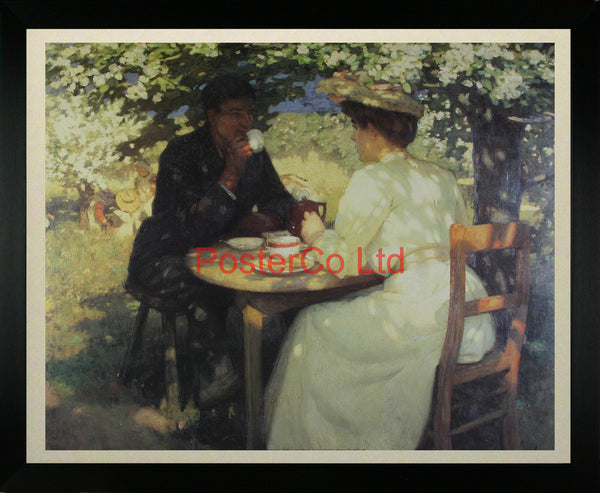 "In the Spring - Harold Knight - Framed Print - 16""H x 20""W"