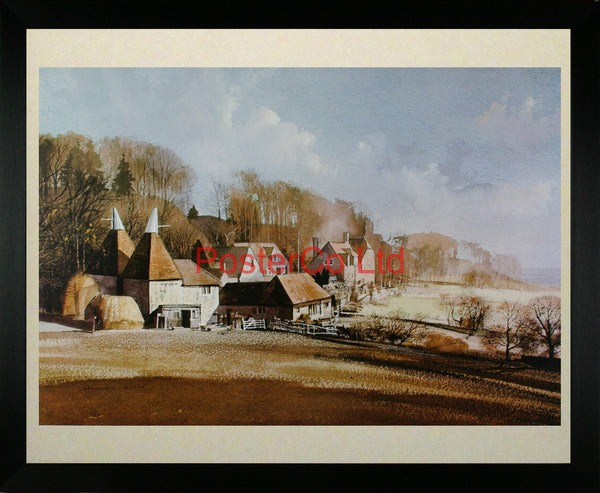 "North Downs Crockham Hill - Rowland Hilder - Framed Print - 16""H x 20""W"
