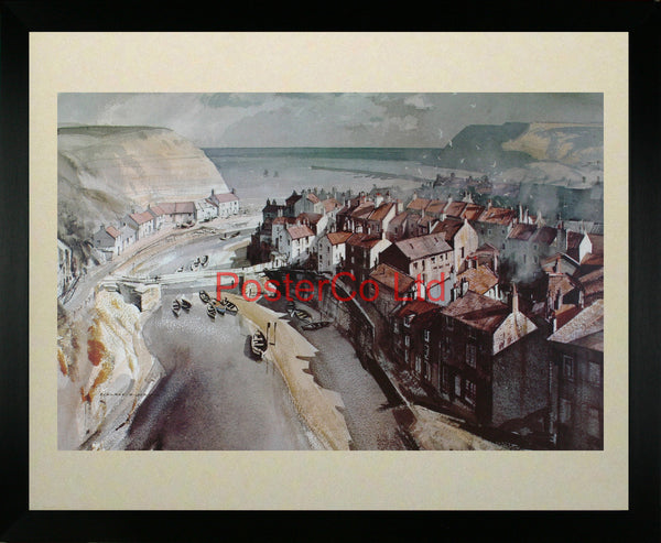 "Staithes North Riding - Rowland Hilder - Framed Print - 16""H x 20""W"