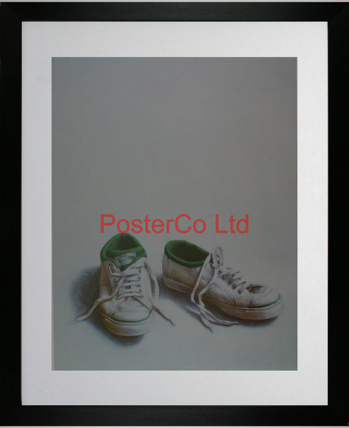 "Green Flashes (Tennis shoes) - Guy Gladwell - Framed Print - 20""H x 16""W"