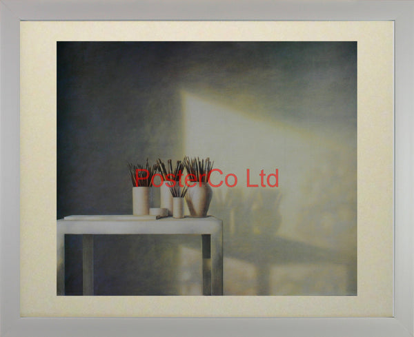 "Back Home (Painting table) - Guy Gladwell - Framed Print - 16""H x 20""W"