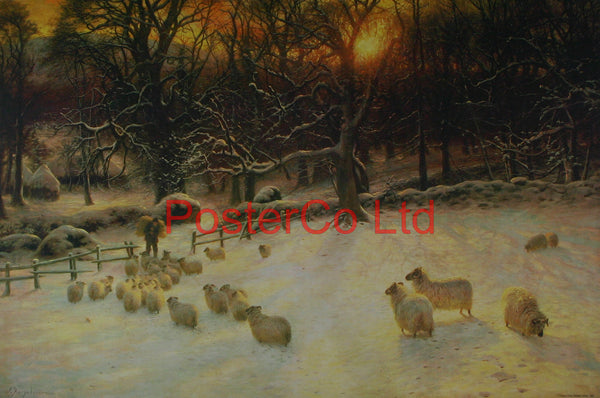 "The Shortening Winters Day (Beneath The Snow Encumbered Branches) - Joseph Farquharson - Framed Print - 16""H x 20""W"