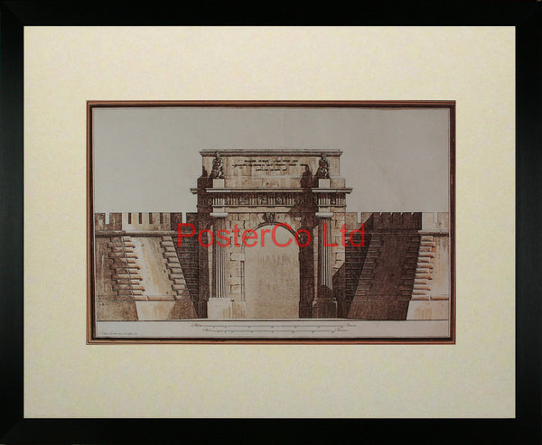 "Architecture II (Archway) - Framed Print - 16""H x 20""W"