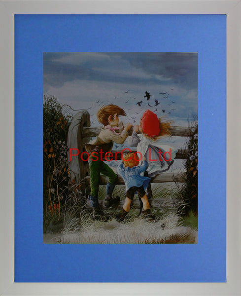 "By the stubble fields  - Anne Grahame Johnstone - Framed Print - 20""H x 16""W"