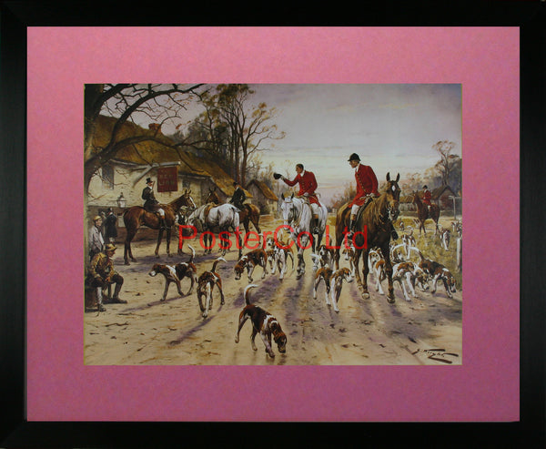 "A Hunting Morn - George Wright - Framed Print - 16""H x 20""W"