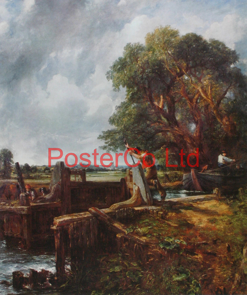 "The Lock - John Constable - Framed Print - 20""H x 16""W"