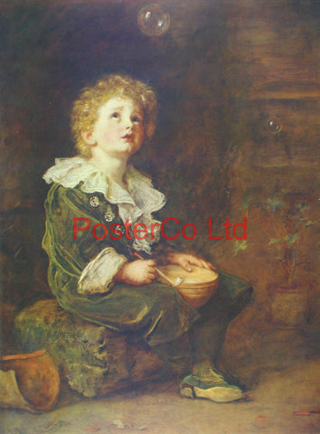 "Bubbles - Sir John Everett Millais - Framed Print - 20""H x 16""W"