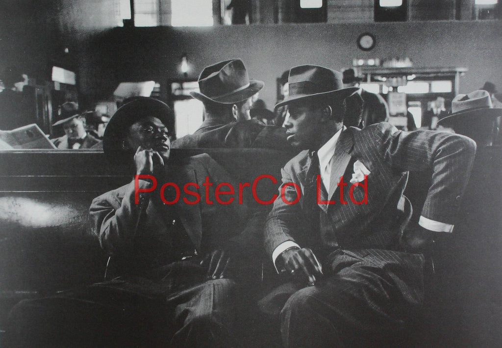 "Greyhound bus terminal (New York) - Esther Bubley - Framed Print - 16""H x 20""W"