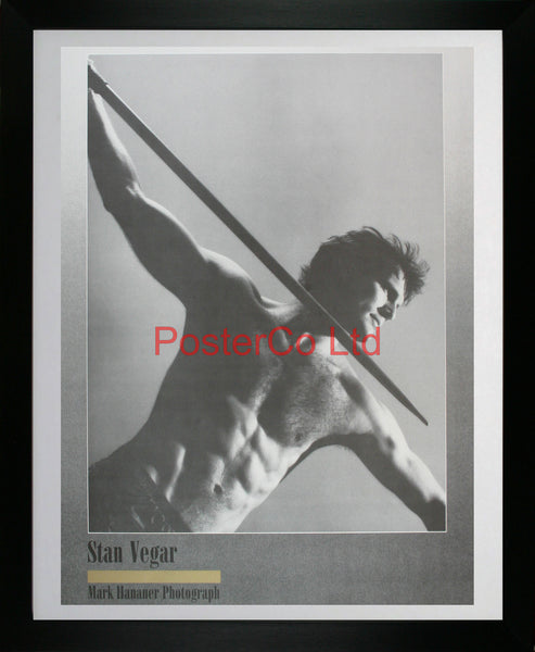 "Javelin thrower - Stan Vegar - Mark Hanauer - Framed Print - 20""H x 16""W"
