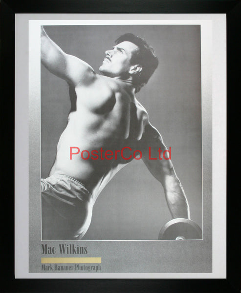 "Discus thrower - Mac Wilkins - Mark Hanauer - Framed Print - 20""H x 16""W"