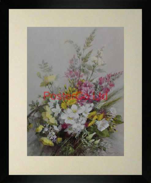 "A hedgerow in June - Vernon Ward - Framed Print - 20""H x 16""W"