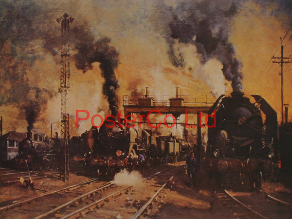 "The age of Steam - Terence Cuneo - Framed Print - 16""H x 20""W"