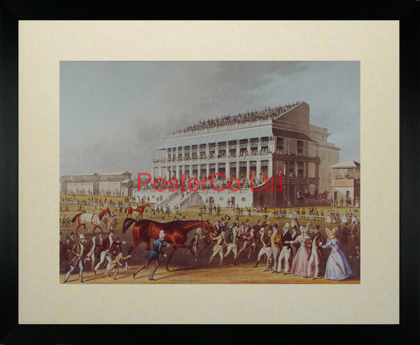 """Bay Middleton"", Winner of the Derby, 1836 - James Pollard - Framed Print - 16""H x 20""W"