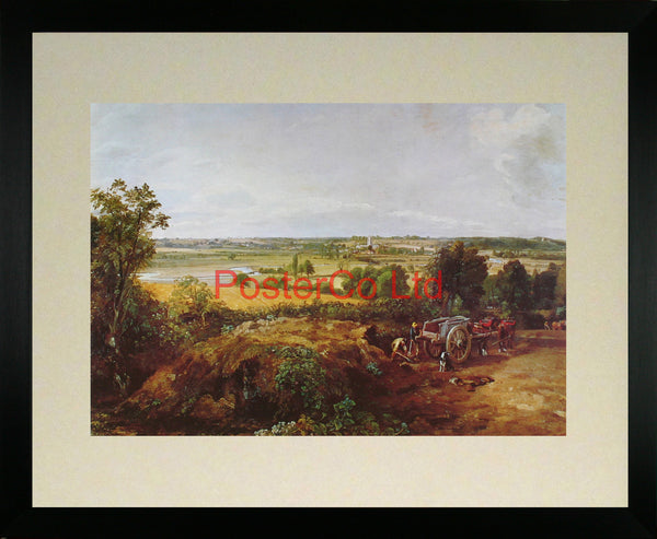 "Stour Valley & Dedham Village - John Constable - Framed Print - 16""H x 20""W"