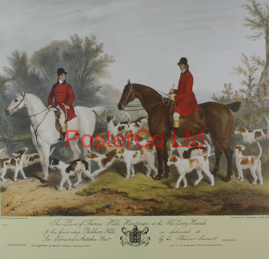 "Thomas Hills huntsman to the Old Surry hounds - Richard Barret Davis - Framed Print - 16""H x 20""W"