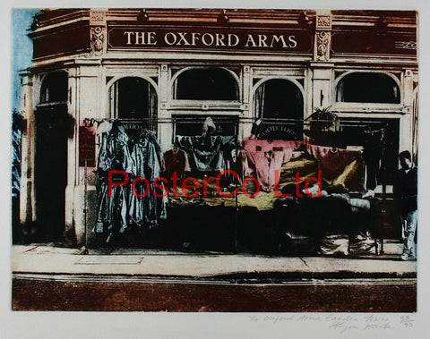 "The Oxford Arms Camden Town - Allison Hunter - (Limited Numbered and Signed Edition) - Framed Screenprint - 16""H x 20""W"