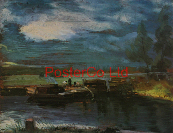 "Barges on the Stour - John Constable - Framed Print - 16""H x 20""W"